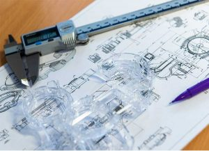 design stage of a plastic component