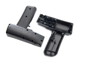 custom manufactured plastic hand held device for medical equiptment