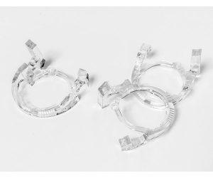 Clear plastic manufactured component for automotive market